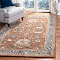 Safavieh Handmade Heritage Timeless Traditional Brown/ Blue Wool Rug - 6' x 9'