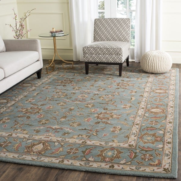 Safavieh Handmade Heritage Timeless Traditional Blue Wool Rug (7'6 x 9'6)