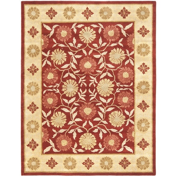 Safavieh Handmade Heritage Timeless Traditional Red/ Beige Wool Rug (8'3 x 11')