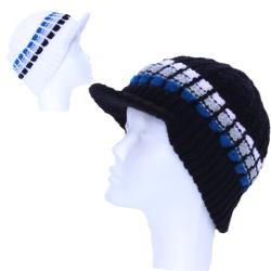 Striped Brim Wool Beanie (Nepal)