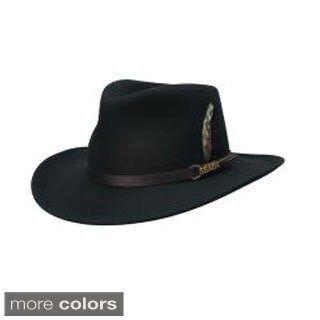 Scala Classico Men's Crushable Wool Felt Outback Hat