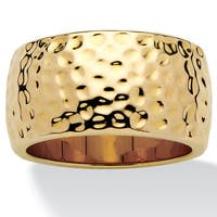 14k Gold-plated Hammered-Style Band Tailored