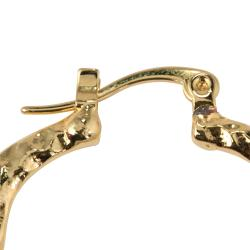 PalmBeach 14k Goldplated High Polish 3-Pair Hoop Earring Set Tailored - Thumbnail 1