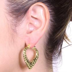 PalmBeach 14k Goldplated High Polish 3-Pair Hoop Earring Set Tailored - Thumbnail 2