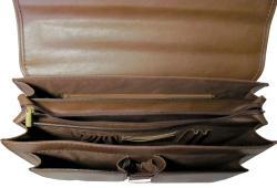Amerileather Theodore Executive Leatherette Briefcase - Thumbnail 2