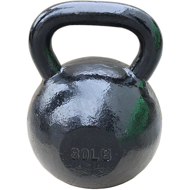 Sunny Black 80-pound Kettle Bell