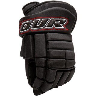 Tour Hockey K-4 Professional-quality Black Roller Hockey Gloves