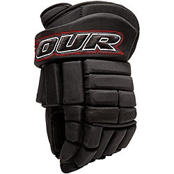 Tour Hockey K-4 Professional-quality Black Roller Hockey Gloves (3 options available)
