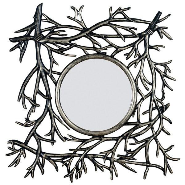Desoto Dark Walnut Finish Mirror (30 x 29)
