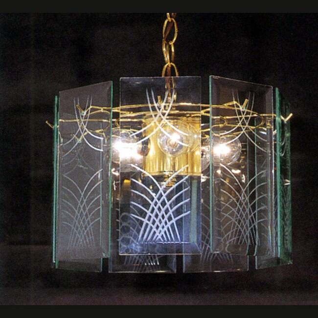 Triarch International Wexford 3-light Polished Brass Pendant
