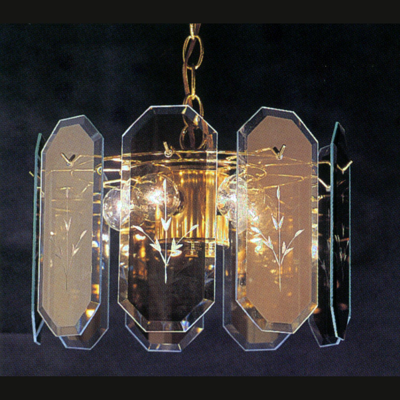 Triarch International Reflections Polished Brass 3-light Pendant
