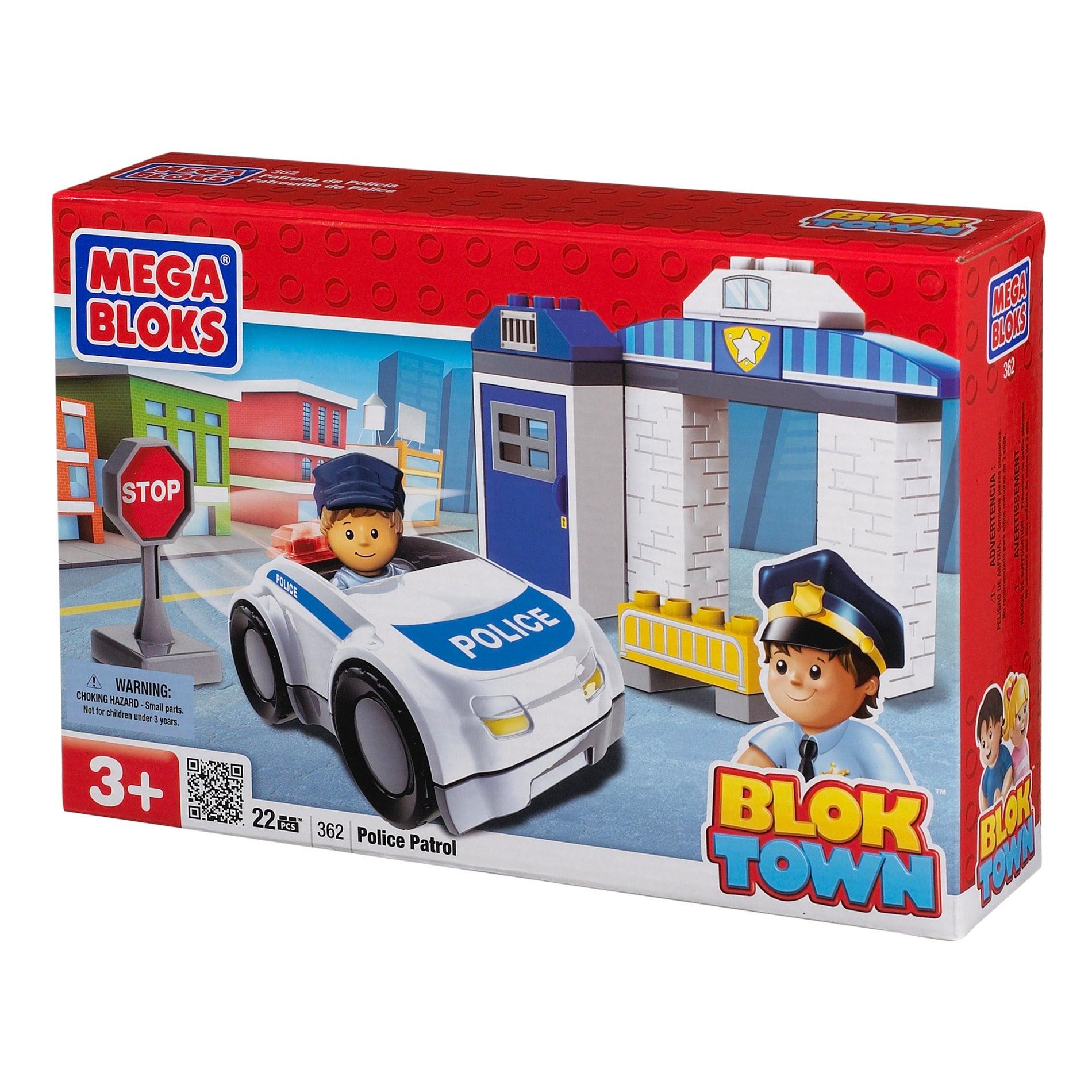 Mega Bloks BlokTown Police Patrol Play Set