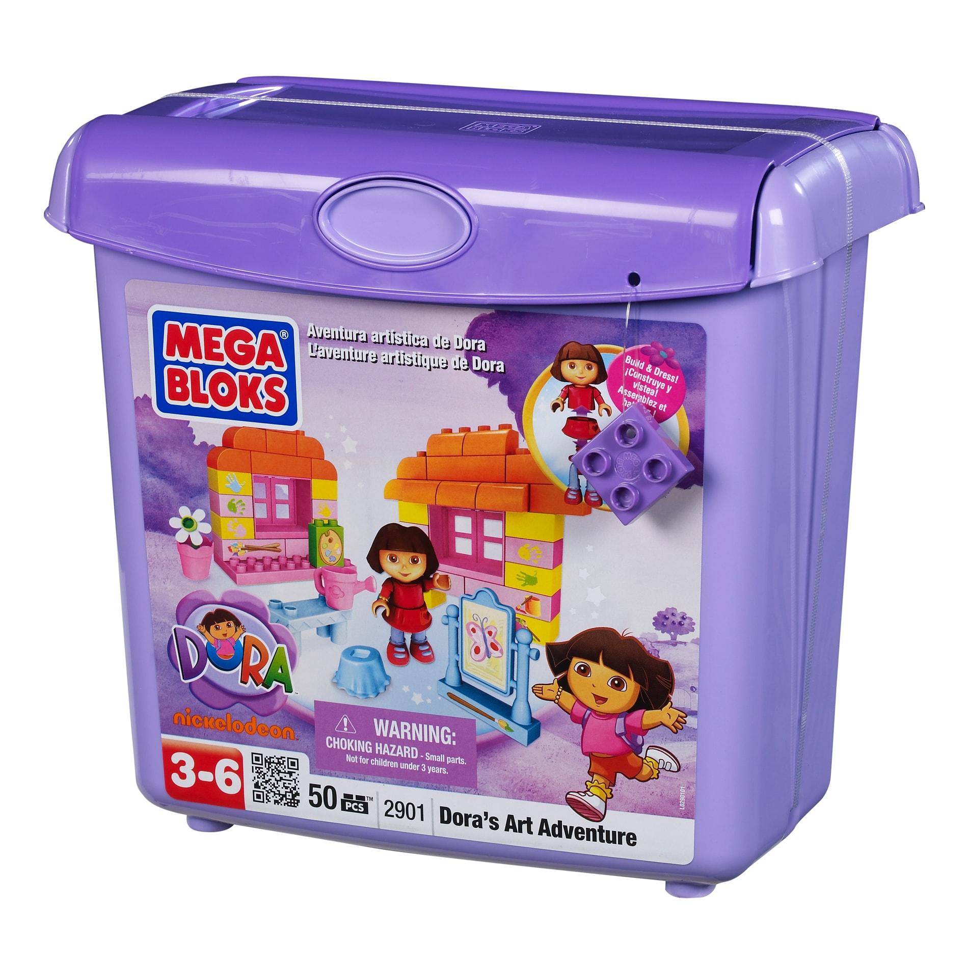 Mega Bloks Dora's Buildable Playset Art Adventure