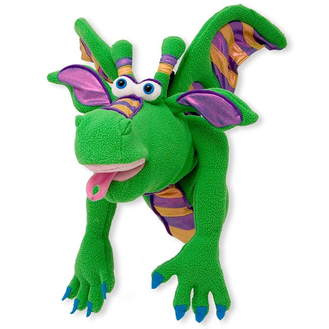 Melissa & Doug 'Smolder the Dragon' Puppet - Thumbnail 0