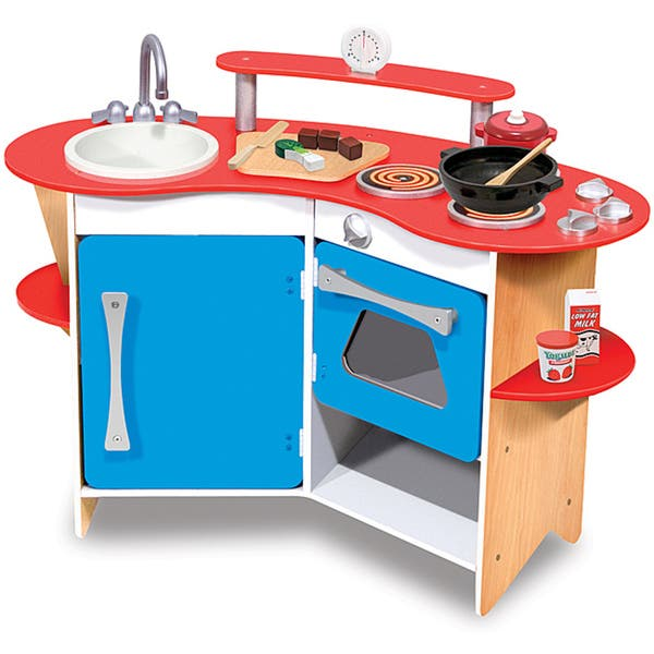 Melissa & Doug Cook\'s Corner Wooden Kitchen