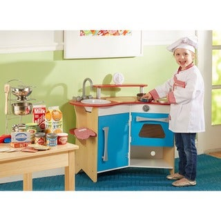 Melissa & Doug Cook\'s Corner Wooden Kitchen | Overstock.com Shopping - The  Best Deals on Kitchens & Play Food