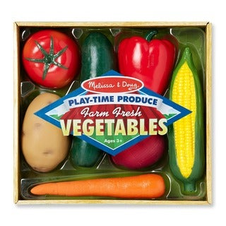 Melissa & Doug Play-time Wooden Vegetables Play Set