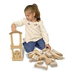 Melissa & Doug Architectural Natural-finished Unit Blocks (Set of 44) - Thumbnail 1