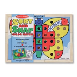 Melissa & Doug Sort and Snap Color Match Activity Set - Thumbnail 0