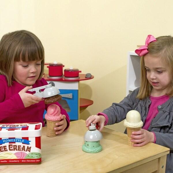 Melissa & Doug Scoop and Stack Ice Cream Play Set