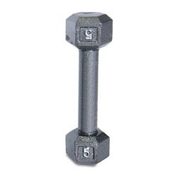 CAP Barbell 5 lb Cast Iron Hex Dumbbell
