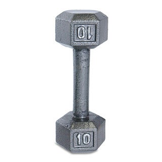 CAP Barbell 10 lb Grey Cast Iron Hex Dumbbell - Silver