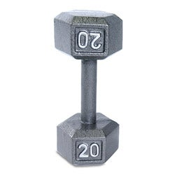 CAP Barbell Grey Cast Iron 20-pound Hex Dumbbell