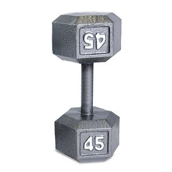 CAP Barbell 45-pound Grey Cast Iron Hex Dumbbell