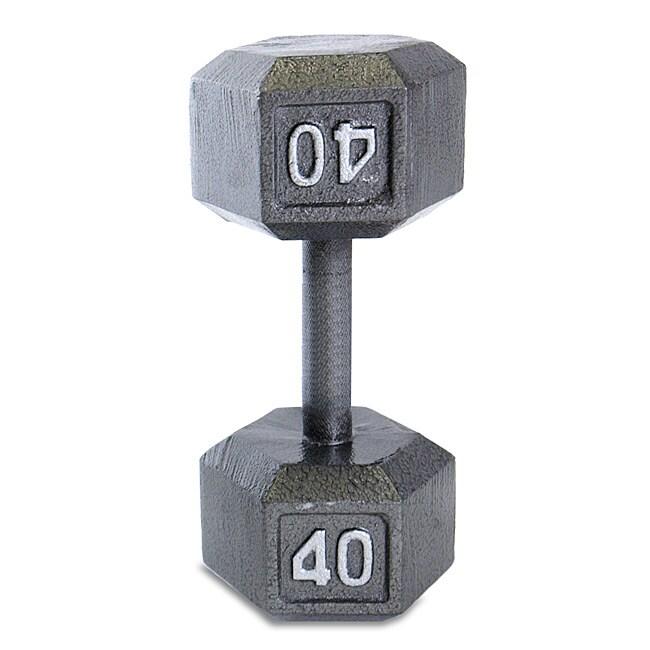 CAP Barbell 40 lb Grey Cast Iron Hex Dumbbell