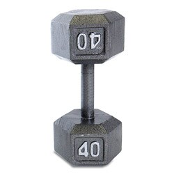 CAP Barbell 40 lb Grey Cast Iron Hex Dumbbell