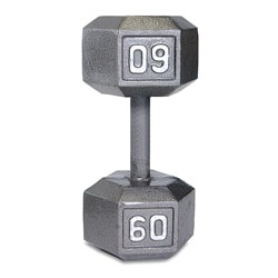 Durable CAP Barbell 60-pound Hex-shaped Gray Cast-iron Dumbbell