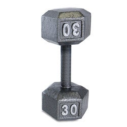 CAP Barbell 30 lb Grey Cast Iron Hex Dumbbell
