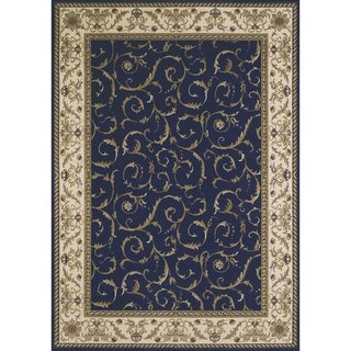 "Admire Home Living Amalfi Scroll Navy Blue Area Rug (5'5 x 7'7) - 5'5"" x 7'7"""