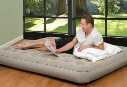 Pure Comfort Full-size Low Profile Suede Top Air Bed