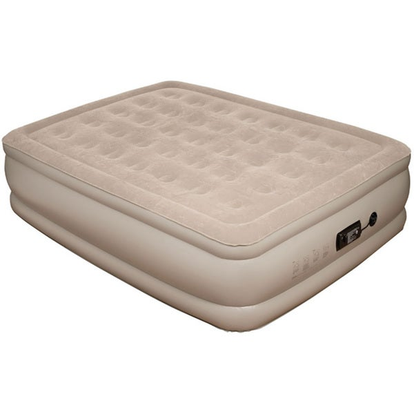 Pure Comfort Queen-size Raised Air Mattress wth Comfort Coil Technology and Internal Pump