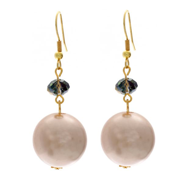 Nexte Jewelry Gold Overlay Faux Pearl Earrings