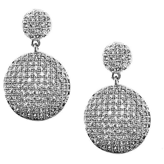 Sterling Silver Cascading Cubic Zirconia Earrings