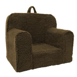 Magical Harmony Kids Chocolate Sherpa Everywhere Foam Chair