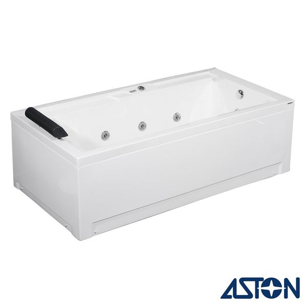 Aston 35-in x 71-in Jetted Whirlpool Tub n White