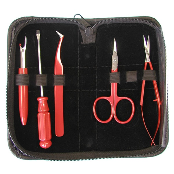 Sulky Five-piece Embroidery Tool Kit with Black Cloth Carrying Case