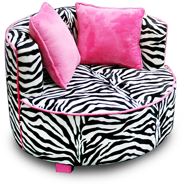 Magical Harmony Kids Minky Zebra Redondo Chair