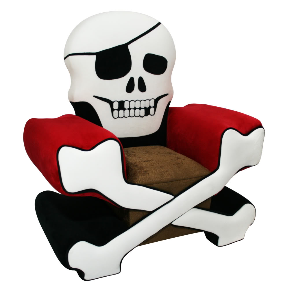 Magical harmony kids skull chair boy free shipping today for Kids chairs for boys