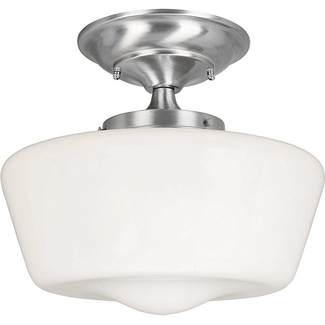 Luray Collection 1-light Satin Nickel Finish Semi-flush Fixture