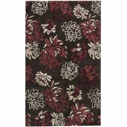 Handmade Luna Whitney New Zealand Wool Area Rug (5' x 8')