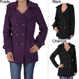 Miss Posh by Journee Junior's Double-breasted Peacoat