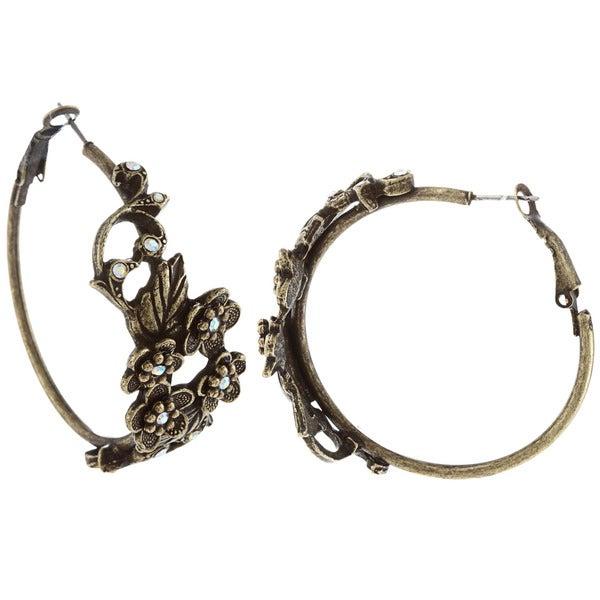 Sweet Romance Primrose Large Hoop Earrings