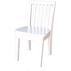 Mission Juvenile Linen White Chairs (Set of 2)