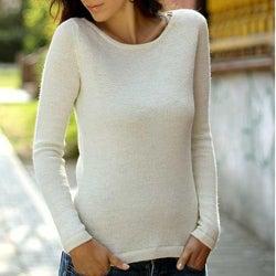 Alpaca Wool 'Ivory Charm' Sweater (Peru)