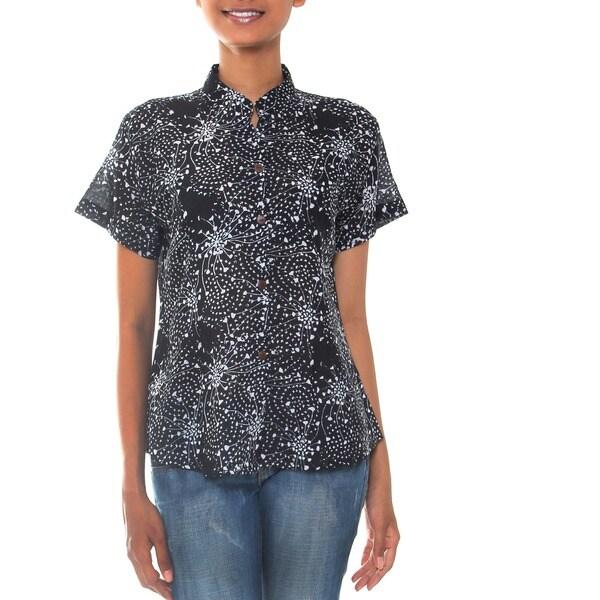 Cotton 'Starlight' Batik Blouse (Indonesia)