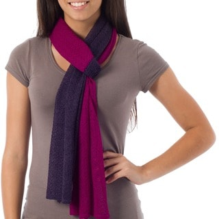Alpaca Wool 'Bold Purple' Scarf (Peru)